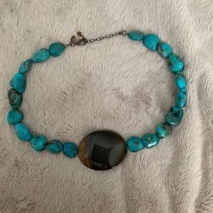 F2G Real Turquoise Beaded Necklace 🐬